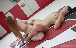 Lesbo dolls share the undercurrent intense sexual catfight