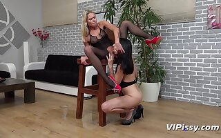 Claudia Macc and Bring to a close Tina nearly HD Pissing Video On one's guard for Action  at Vipissy