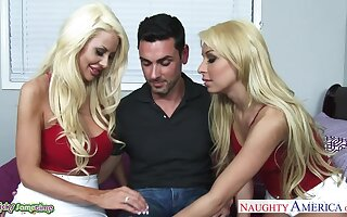 Unforgettable MFF threesome with wild nymphos Carmen Caliente together with Courtney Taylor
