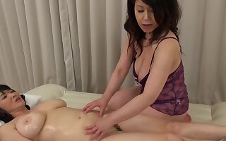 Two Asian matures drop their clothes to have a kinky lesbian sex