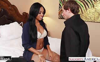 Wife's black friend Anya Ivy turned out to be a hot blooded fuck up puff up