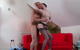 Mature lady remains steadfast as she gets fucked by a hung fellow