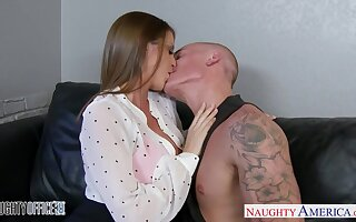 Reception chick Brooklyn Chase sucks a dick and gets laid