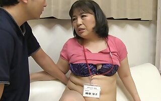 Chubby Japanese amateur gives a blowjob and rides his stiff weasel words
