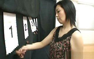 Naughty mature Asian daughter plays pick a cock