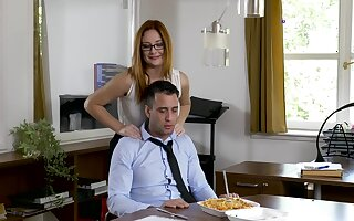 Office MILF wants the new guy's dick before going home