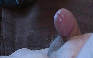 Mature gay handjob cumshot on the couch