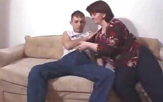 Step-mama pounce on me on the sofa