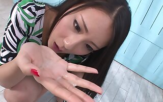 Ren Azumi Gives Many Asian Blow Jobs In Group Sex