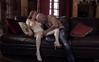 Bald gay blade stings premium woman with the pertinent inches