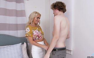 Hot stepmom has always enjoyed being a MILF and she fucks like a pro